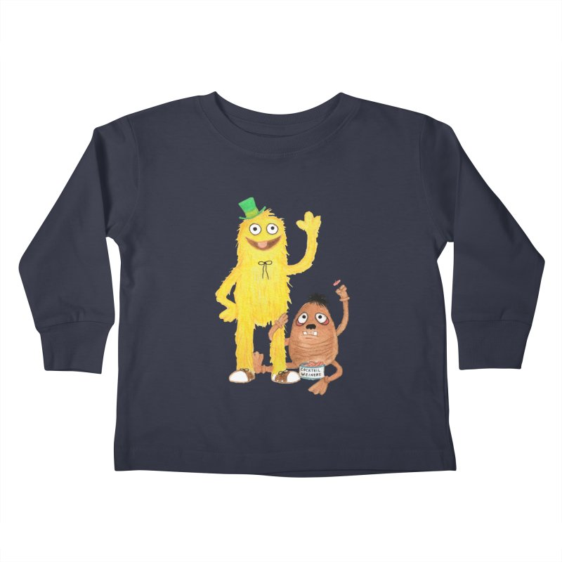 Chauncey and HIM Kids Toddler Longsleeve T-Shirt by Jim Tozzi