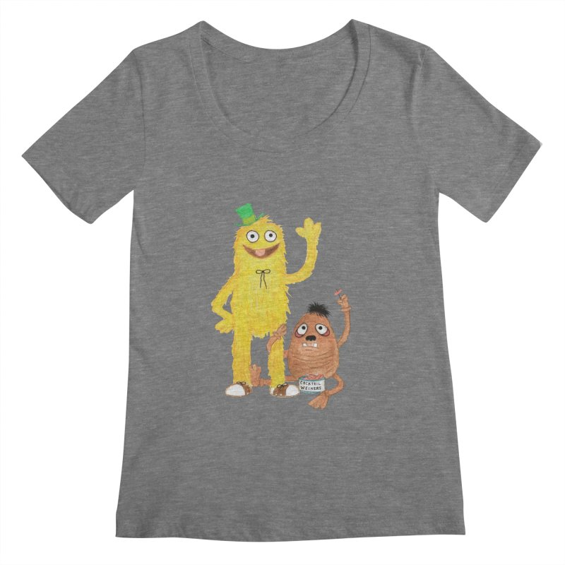 Chauncey and HIM Women's Scoopneck by Jim Tozzi