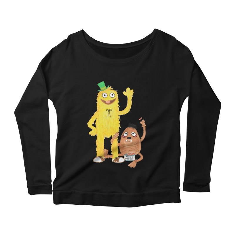 Chauncey and HIM Women's Longsleeve Scoopneck  by Jim Tozzi