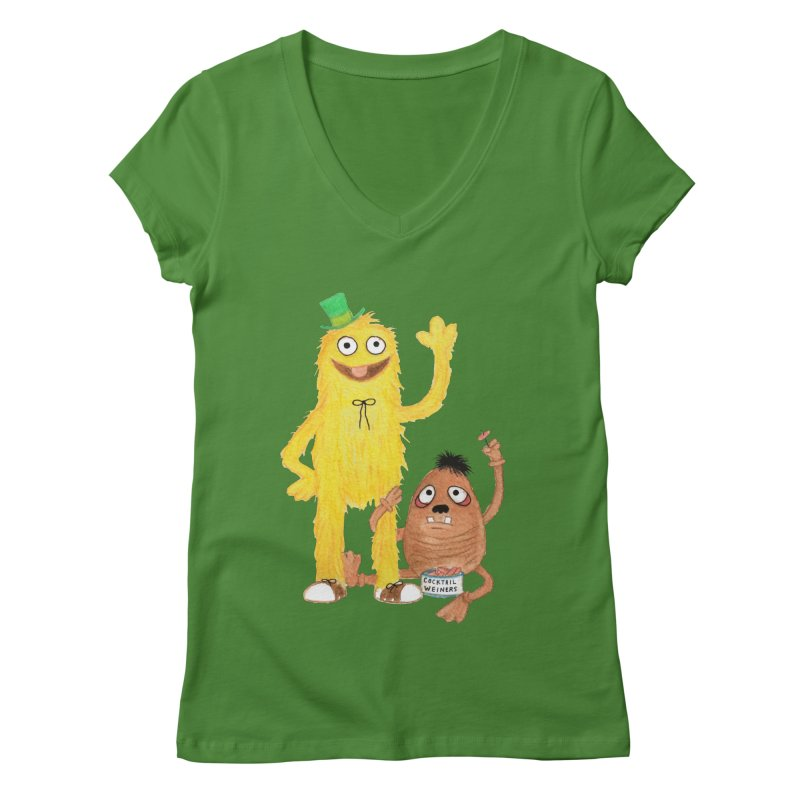 Chauncey and HIM Women's V-Neck by Jim Tozzi