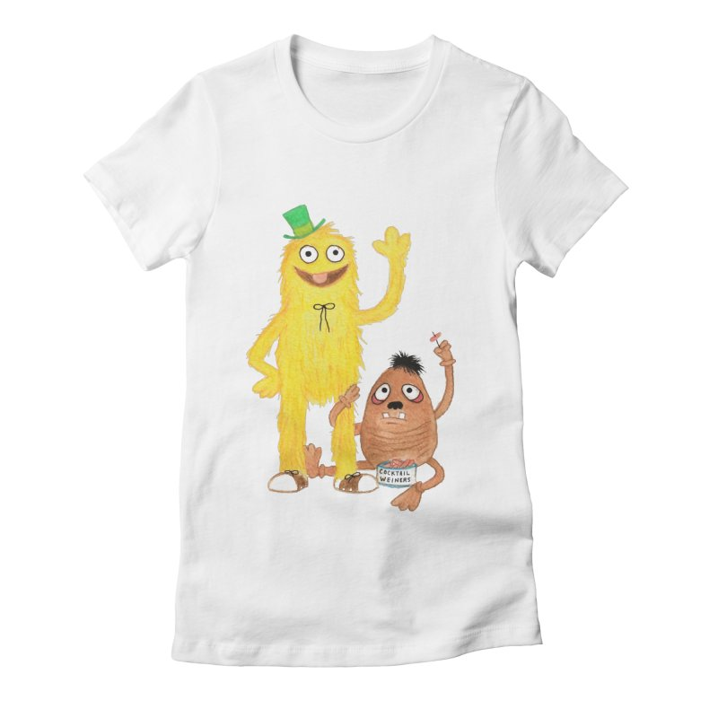 Chauncey and HIM Women's Fitted T-Shirt by Jim Tozzi