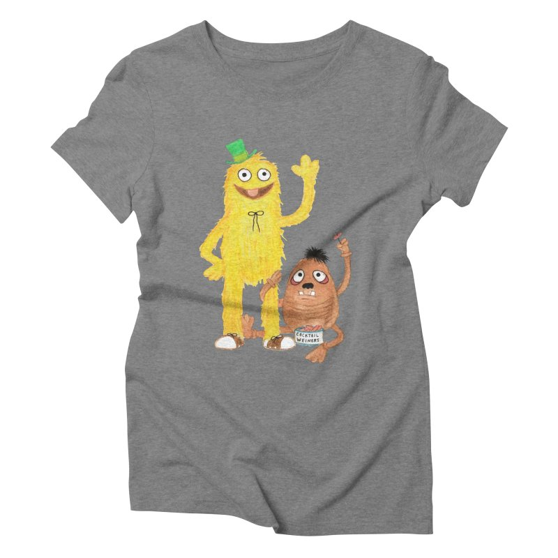 Chauncey and HIM Women's Triblend T-shirt by Jim Tozzi