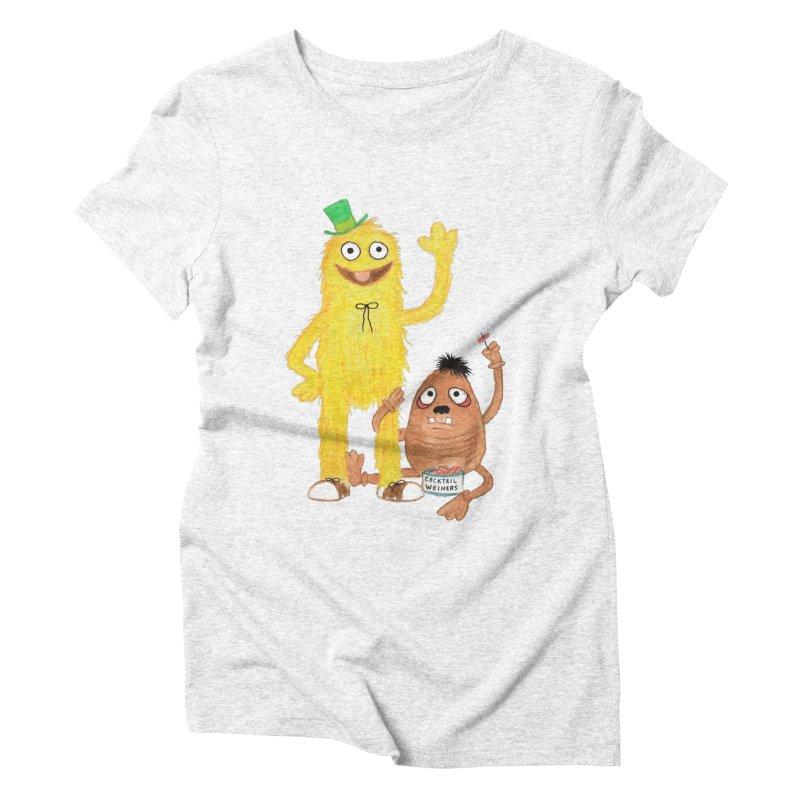 Chauncey and HIM Women's Triblend T-shirt by Jim Tozzi