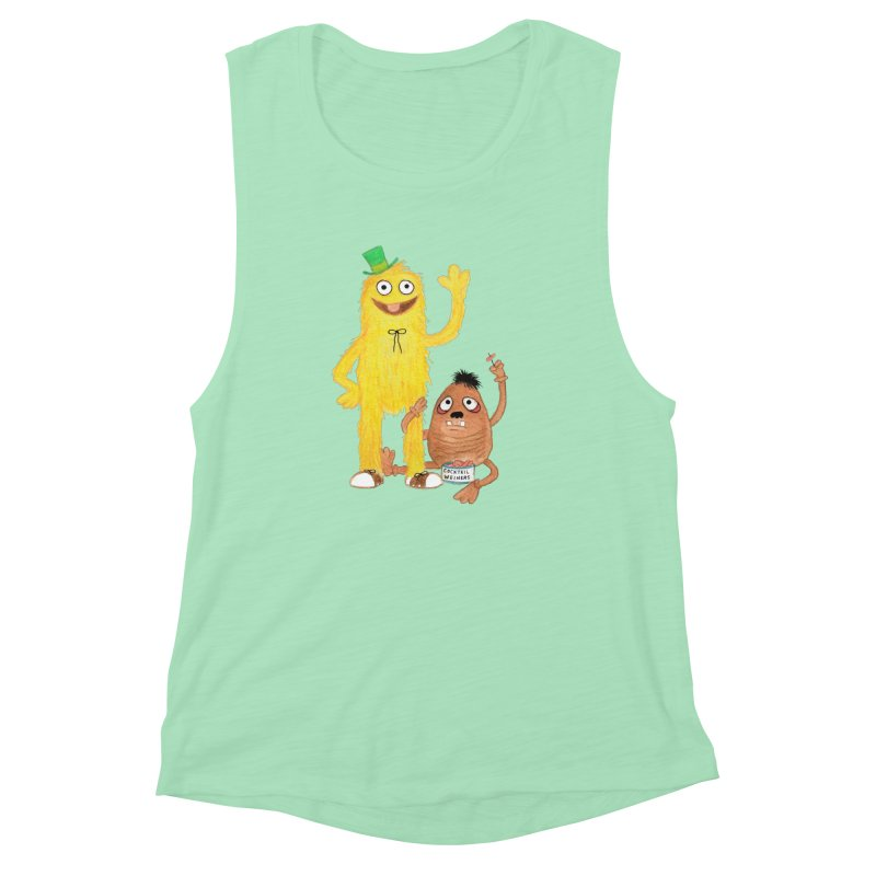 Chauncey and HIM Women's Muscle Tank by Jim Tozzi