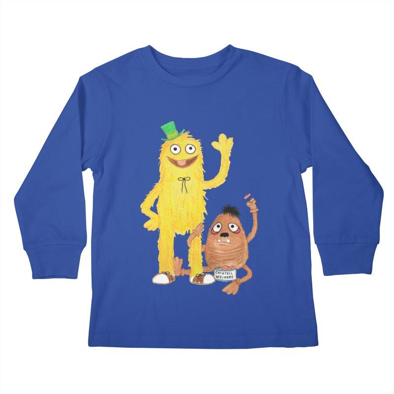Chauncey and HIM Kids Longsleeve T-Shirt by Jim Tozzi