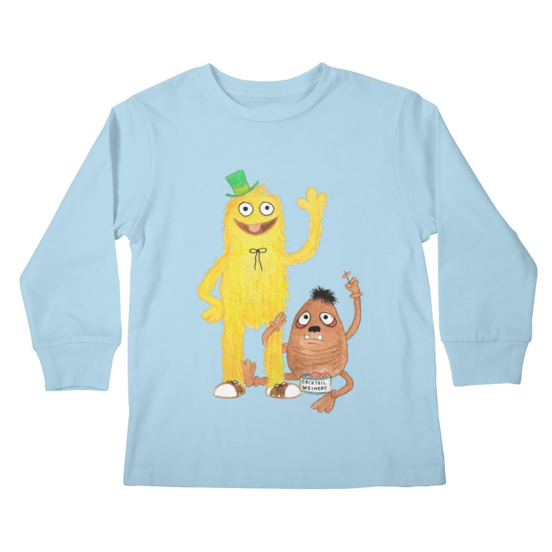 Chauncey and HIM Kids Longsleeve T-Shirt by Jim Tozzi