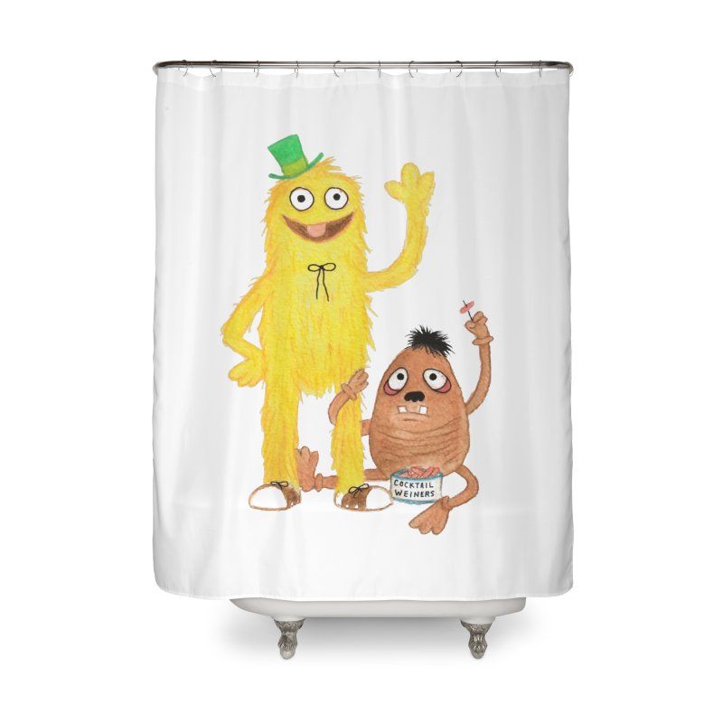 Chauncey and HIM Home Shower Curtain by Jim Tozzi