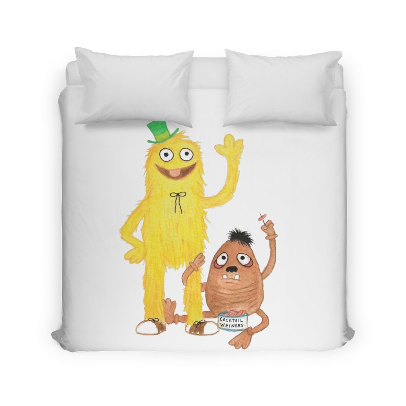 Chauncey and HIM Home Duvet by Jim Tozzi