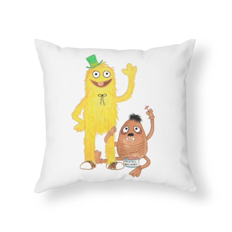 Chauncey and HIM Home Throw Pillow by Jim Tozzi