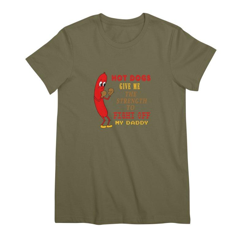 Hot dog Women's Premium T-Shirt by Jim Tozzi