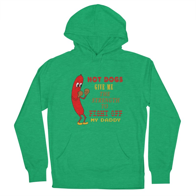 Hot dog Women's French Terry Pullover Hoody by Jim Tozzi