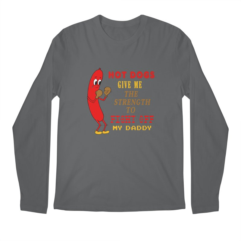Hot dog Men's Regular Longsleeve T-Shirt by Jim Tozzi