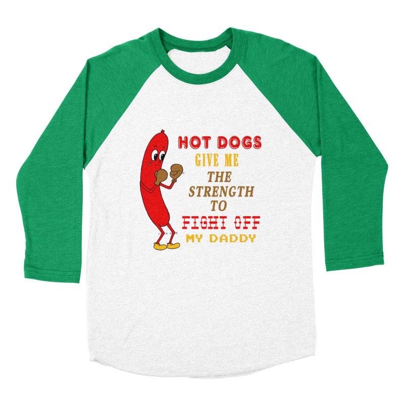 Hot dog Women's Baseball Triblend Longsleeve T-Shirt by Jim Tozzi