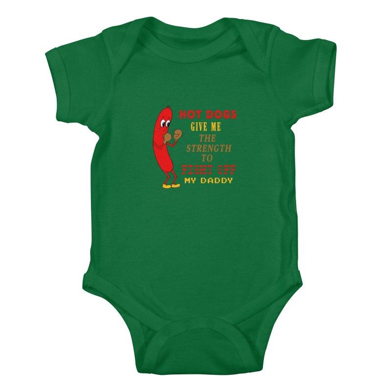 Hot dog Kids Baby Bodysuit by Jim Tozzi