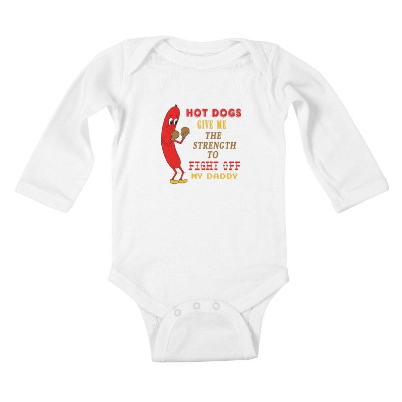 Hot dog Kids Baby Longsleeve Bodysuit by Jim Tozzi