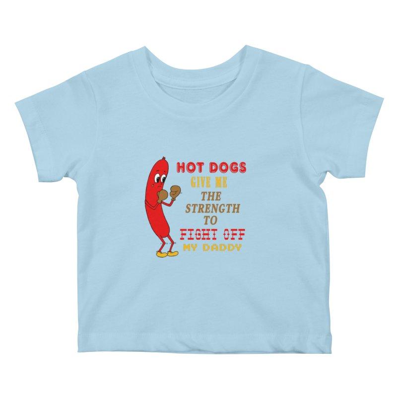 Hot dog Kids Baby T-Shirt by Jim Tozzi