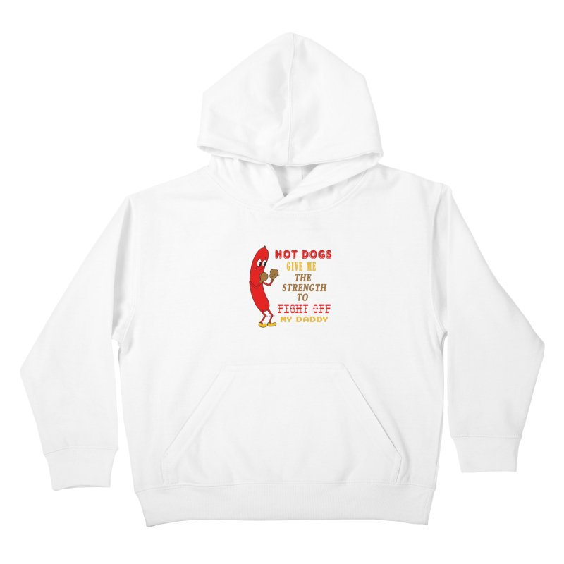 Hot dog Kids Pullover Hoody by Jim Tozzi