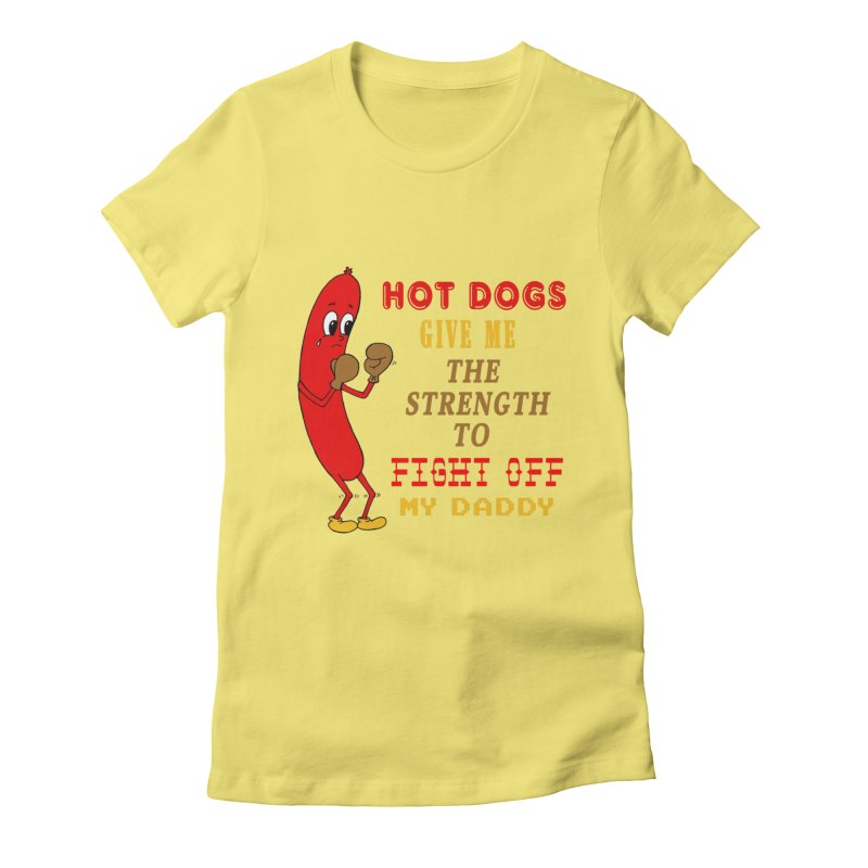 Hot dog Women's Fitted T-Shirt by Jim Tozzi