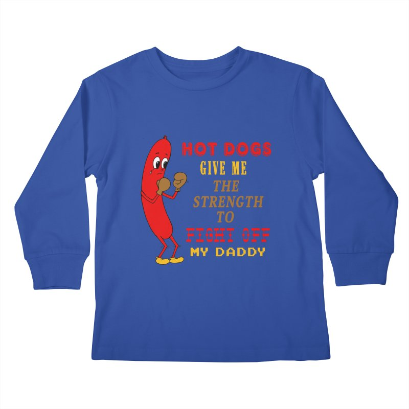 Hot dog Kids Longsleeve T-Shirt by Jim Tozzi