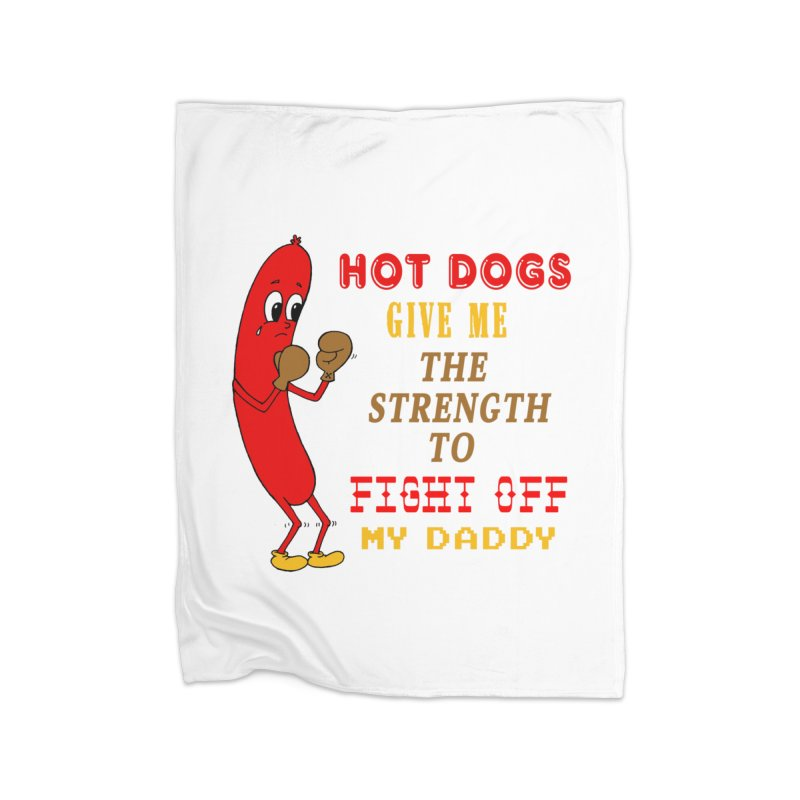 Hot dog Home Blanket by Jim Tozzi
