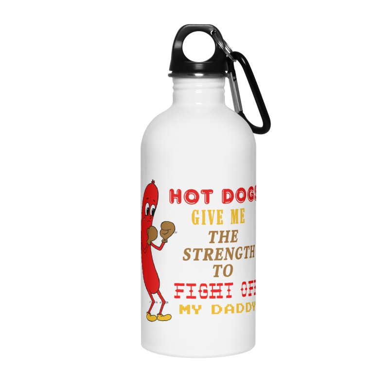 Hot dog Accessories Water Bottle by Jim Tozzi
