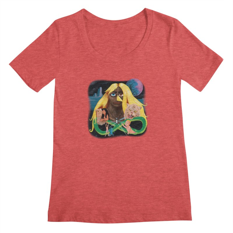 Xavier Renegade Angel deluxe Women's Regular Scoop Neck by Jim Tozzi
