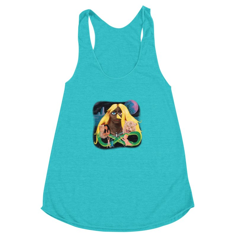 Xavier Renegade Angel deluxe Women's Racerback Triblend Tank by Jim Tozzi