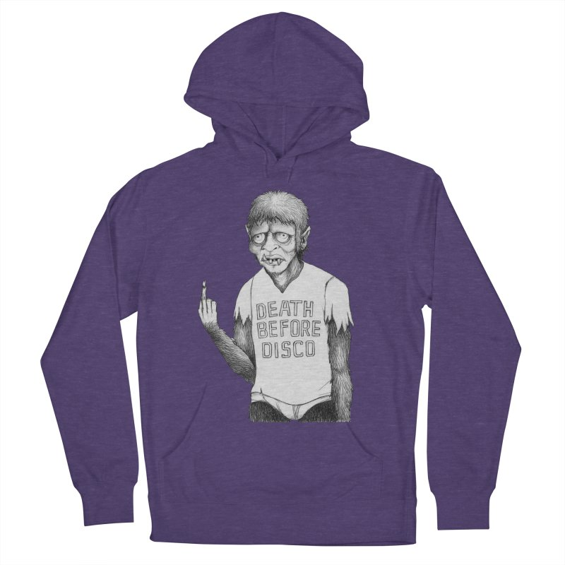 DEATH BEFORE DISCO Men's Pullover Hoody by Jim Tozzi