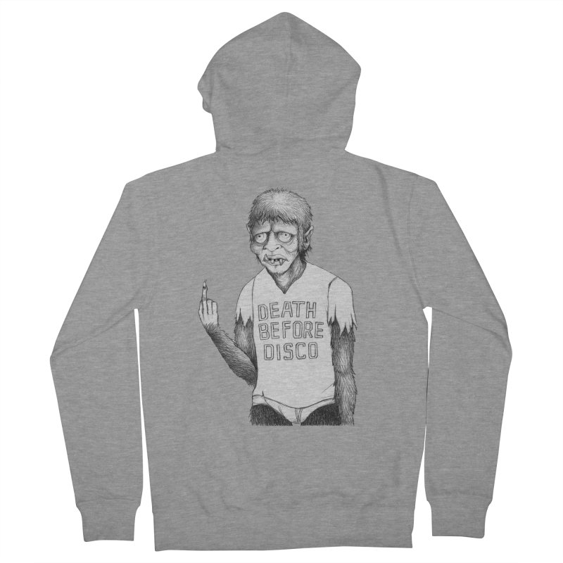 DEATH BEFORE DISCO Men's Zip-Up Hoody by Jim Tozzi