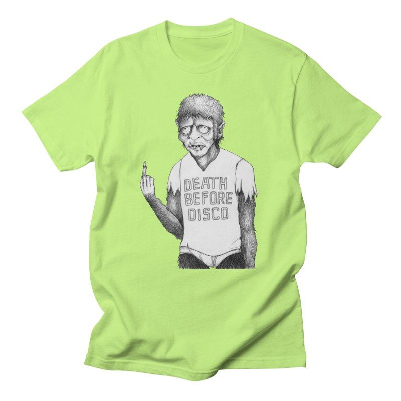 DEATH BEFORE DISCO Men's T-Shirt by Jim Tozzi