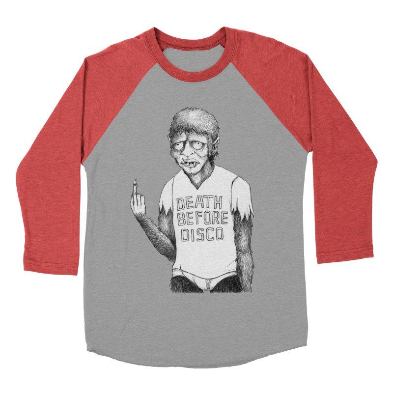 DEATH BEFORE DISCO Men's Baseball Triblend T-Shirt by Jim Tozzi