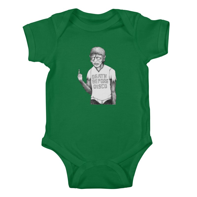 DEATH BEFORE DISCO Kids Baby Bodysuit by Jim Tozzi