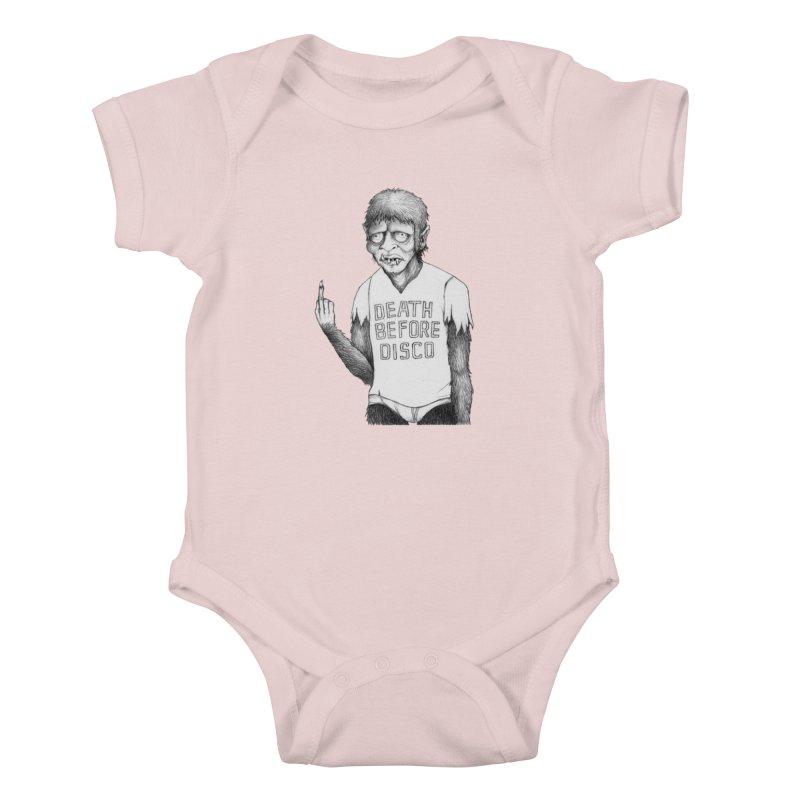 DEATH BEFORE DISCO Kids Baby Bodysuit by Jim Tozzi