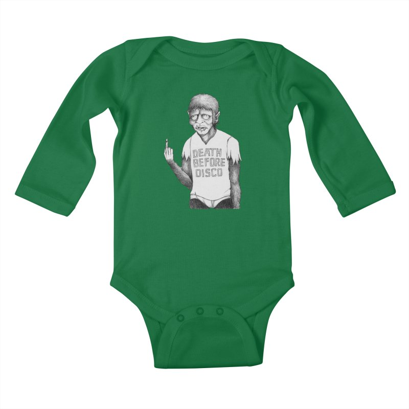 DEATH BEFORE DISCO Kids Baby Longsleeve Bodysuit by Jim Tozzi