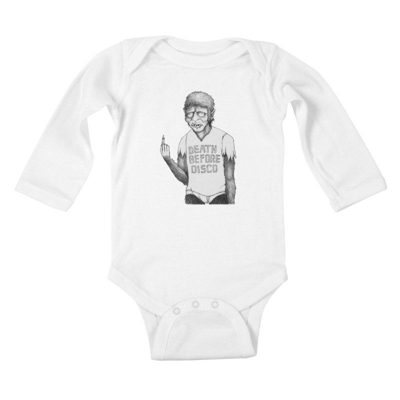 DEATH BEFORE DISCO Kids Baby Longsleeve Bodysuit by Jim Tozzi