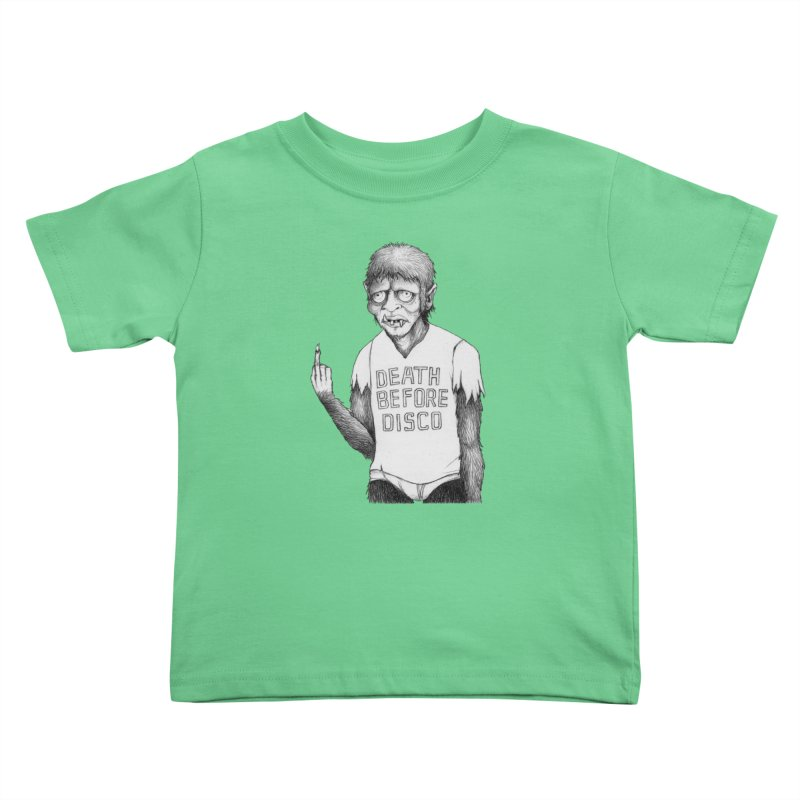 DEATH BEFORE DISCO Kids Toddler T-Shirt by Jim Tozzi