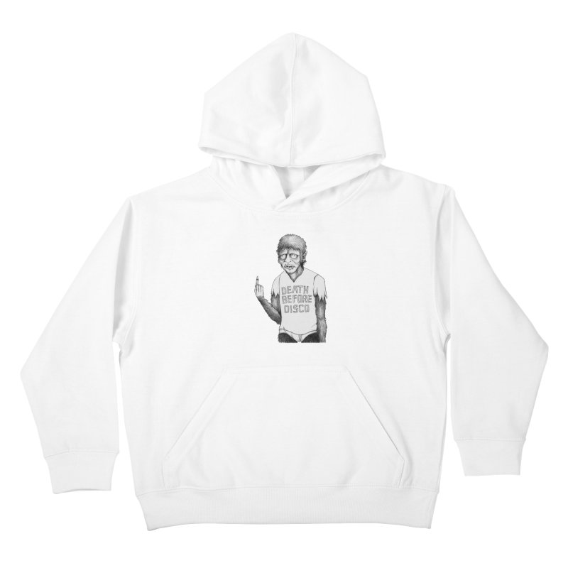 DEATH BEFORE DISCO Kids Pullover Hoody by Jim Tozzi