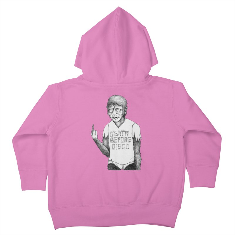 DEATH BEFORE DISCO Kids Toddler Zip-Up Hoody by Jim Tozzi