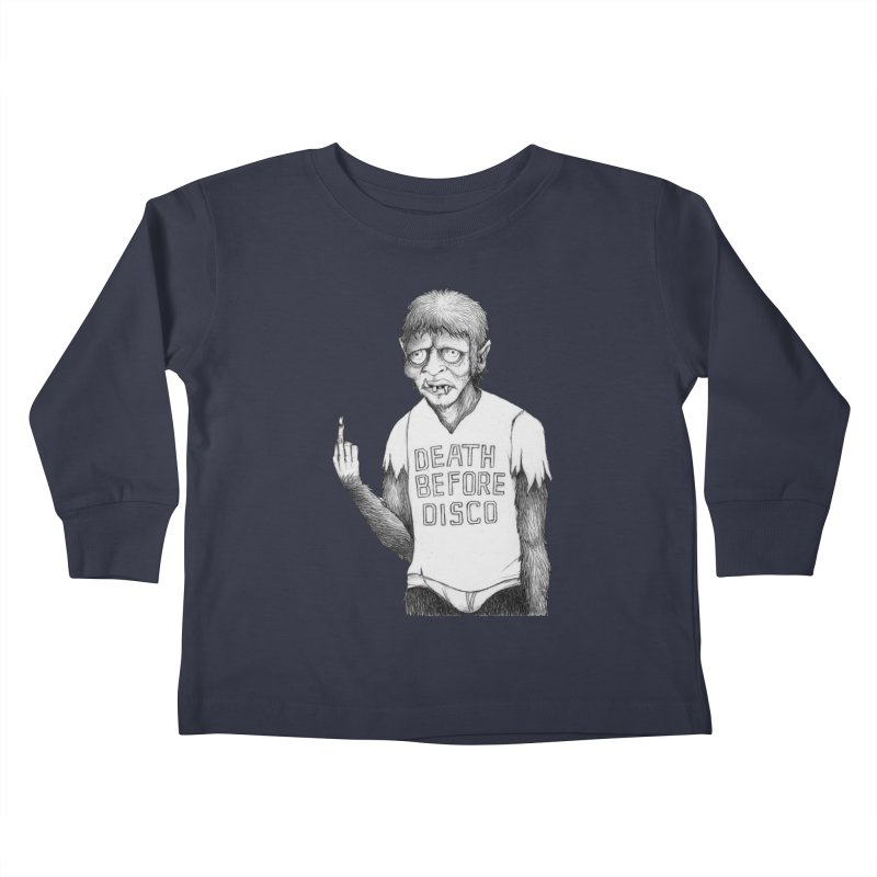 DEATH BEFORE DISCO Kids Toddler Longsleeve T-Shirt by Jim Tozzi
