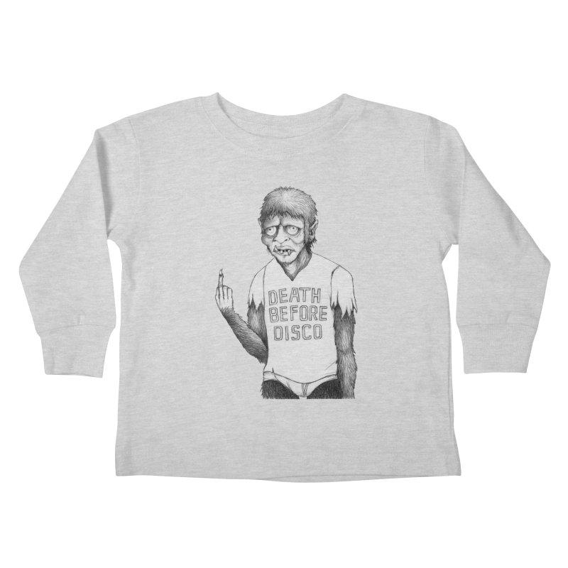 DEATH BEFORE DISCO Kids Toddler Longsleeve T-Shirt by Jim Tozzi
