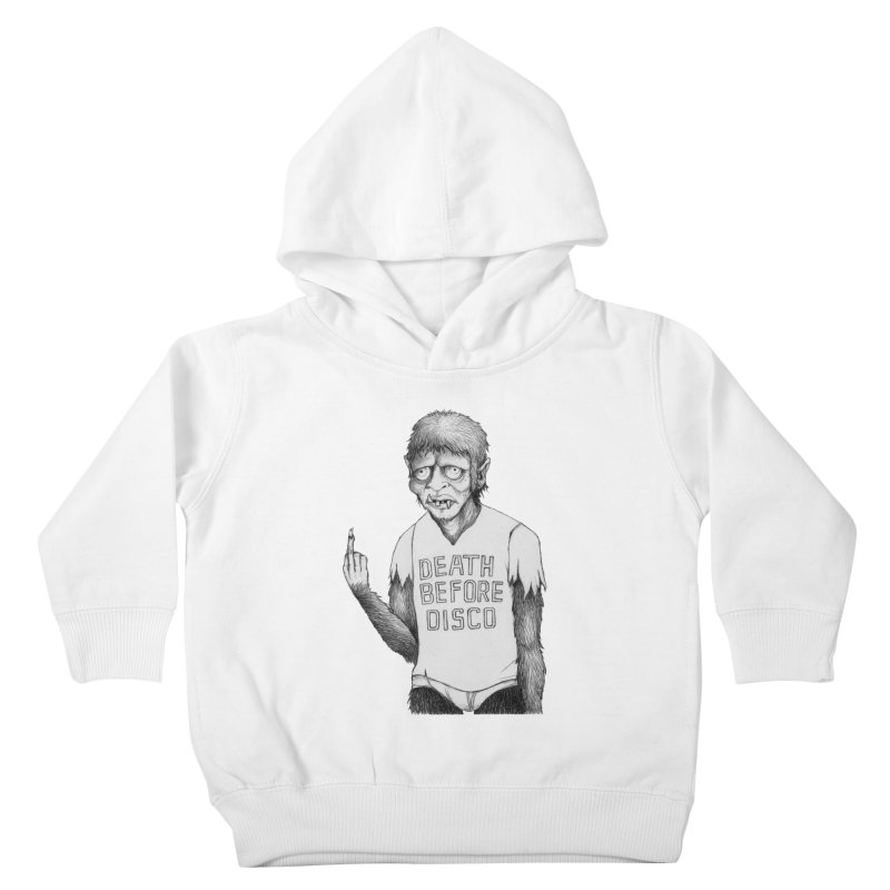 DEATH BEFORE DISCO Kids Toddler Pullover Hoody by Jim Tozzi