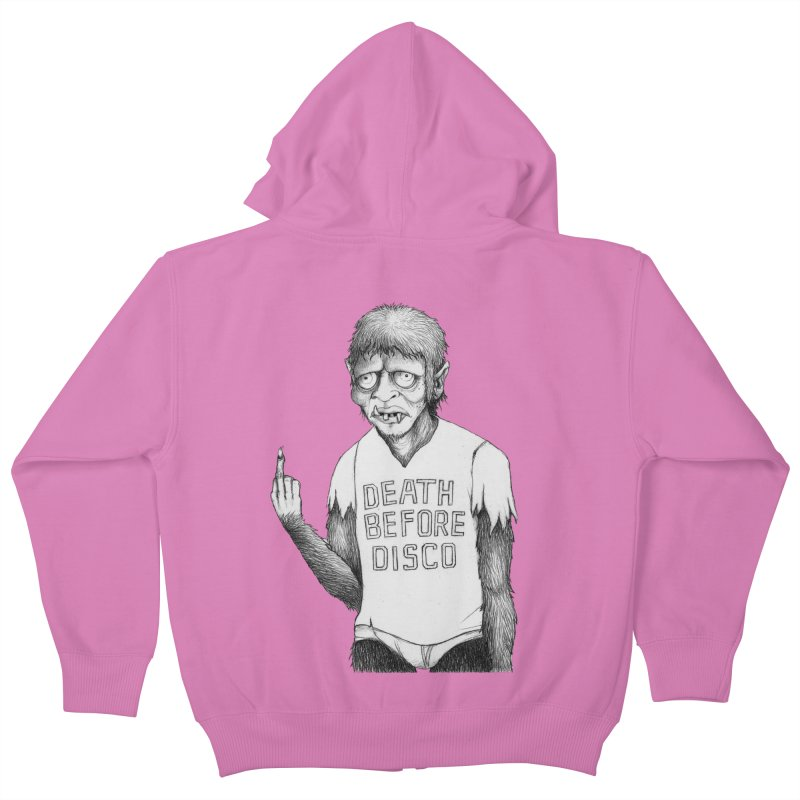 DEATH BEFORE DISCO Kids Zip-Up Hoody by Jim Tozzi