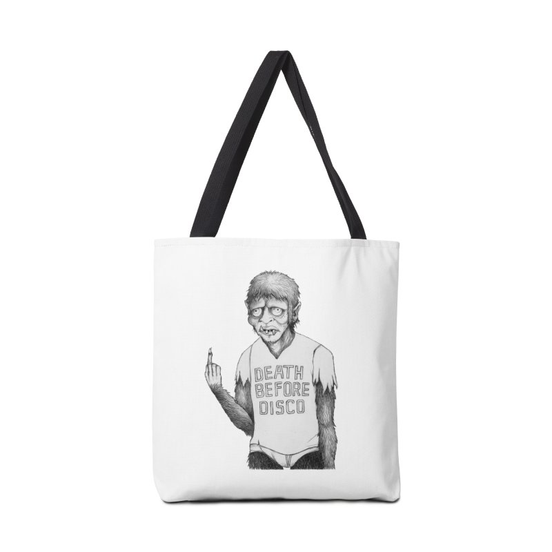 DEATH BEFORE DISCO Accessories Bag by Jim Tozzi