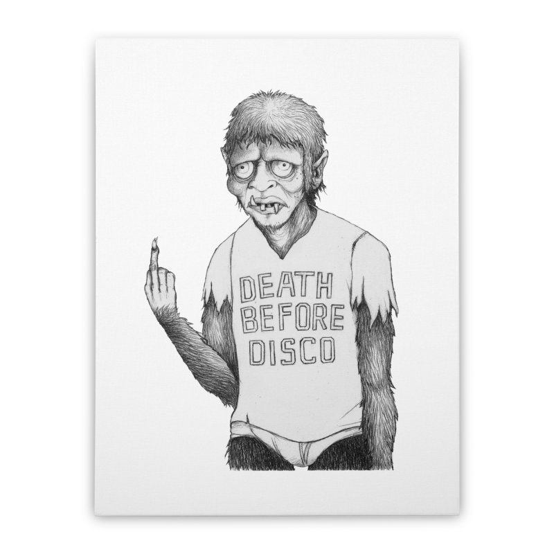 DEATH BEFORE DISCO Home Stretched Canvas by Jim Tozzi