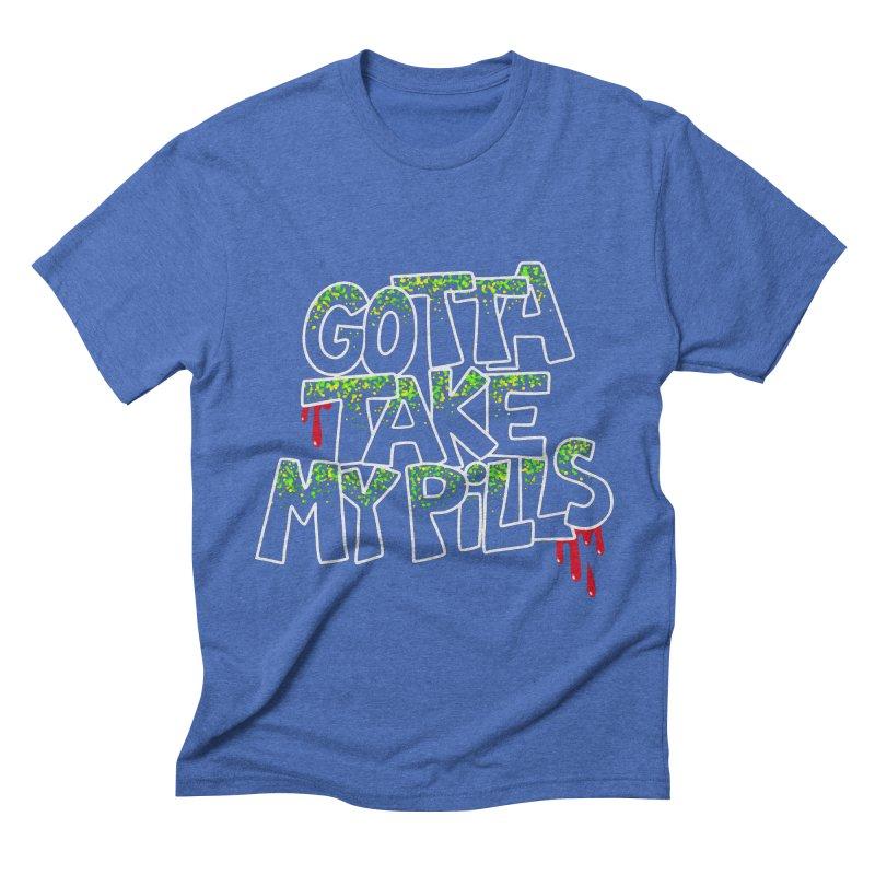 PILLS Men's Triblend T-shirt by Jim Tozzi