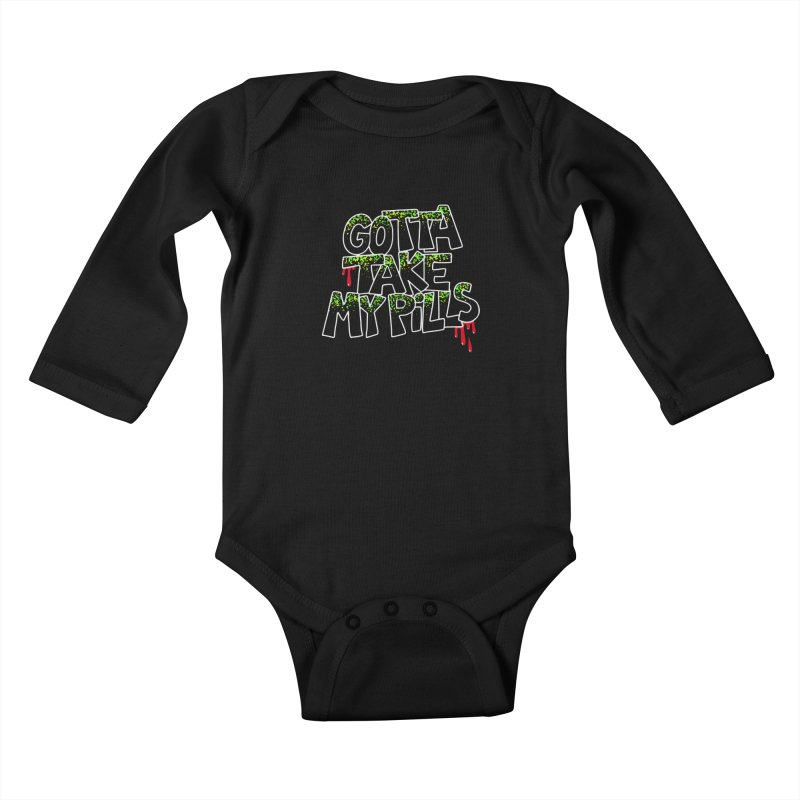 PILLS Kids Baby Longsleeve Bodysuit by Jim Tozzi