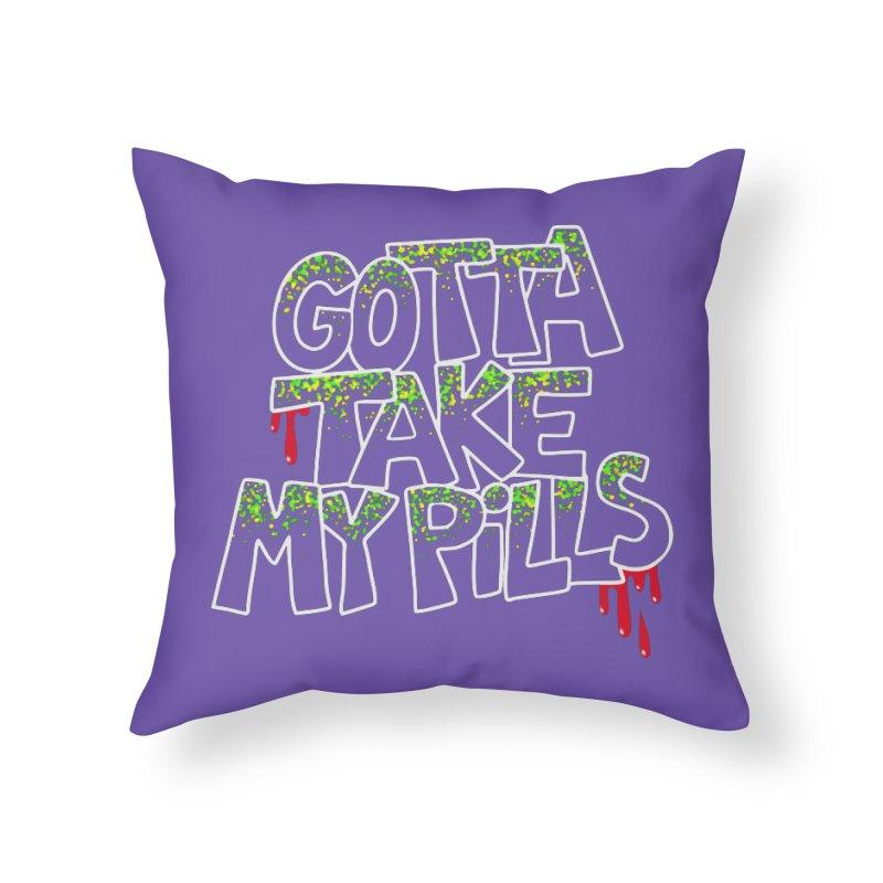 PILLS Home Throw Pillow by Jim Tozzi