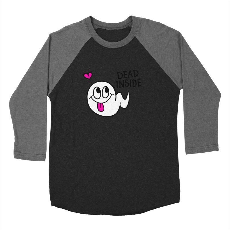 DEAD INSIDE Men's Baseball Triblend Longsleeve T-Shirt by Jim Tozzi