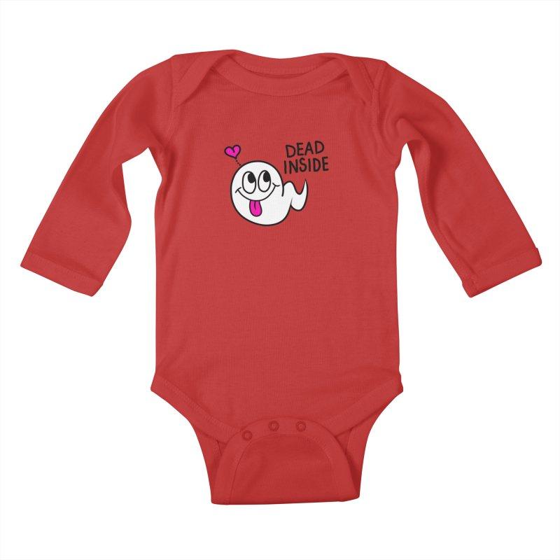 DEAD INSIDE Kids Baby Longsleeve Bodysuit by Jim Tozzi