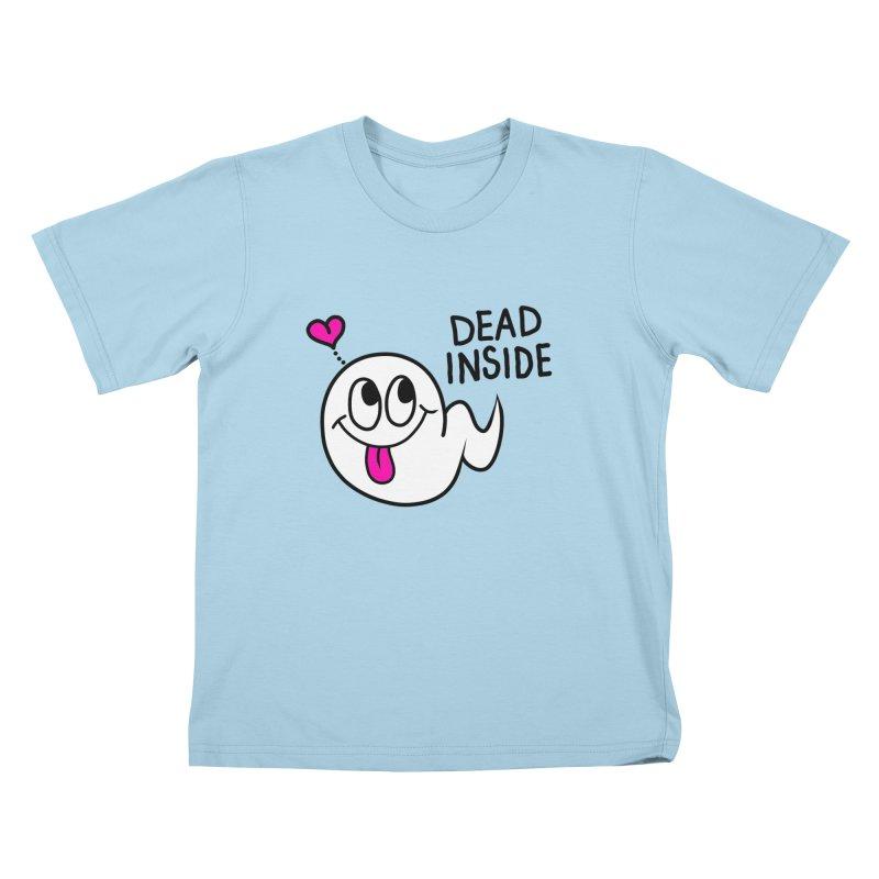 DEAD INSIDE Kids T-Shirt by Jim Tozzi